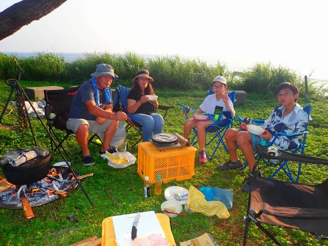 海辺で焚き火キャンプ&島周遊エコツアーの画像