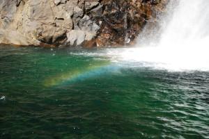 大川の滝の虹