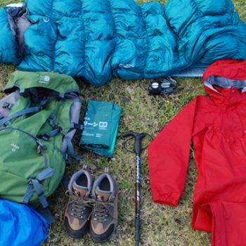 屋久島キャンプ登山で必要な装備